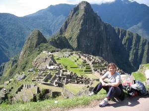 Liz at Machu Picchu